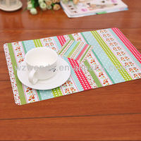 plastic placemats and coasters
