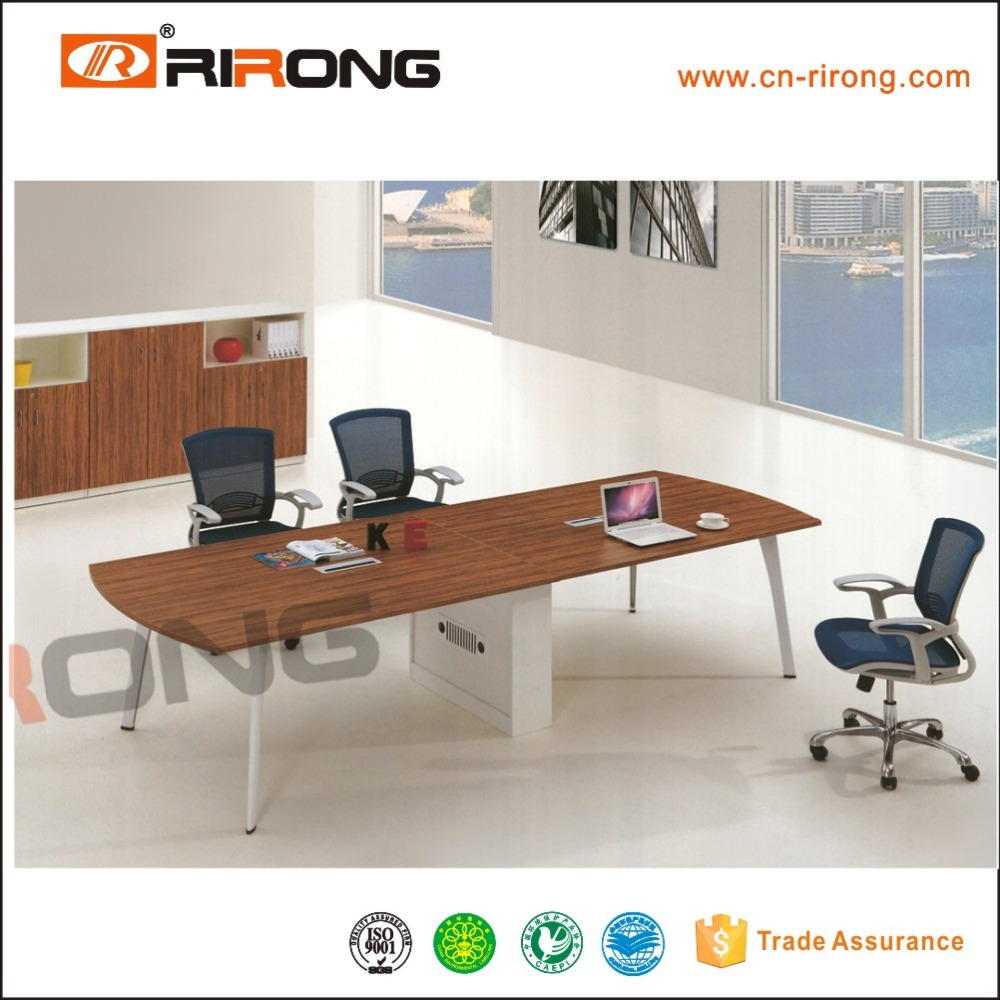 Wholesale Clear Top Wood Base Office Luxury Modern Conference Table