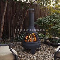 Steel Camber Chiminea,camping fire pit