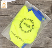custom printing transparent cpe slider zipper plastic bag for clothes packing