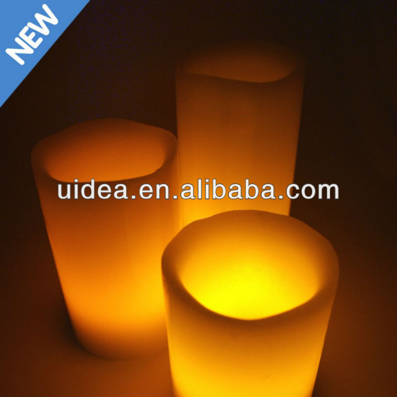 Set of 3 LED Flameless Battery Operated Wax Candle Light