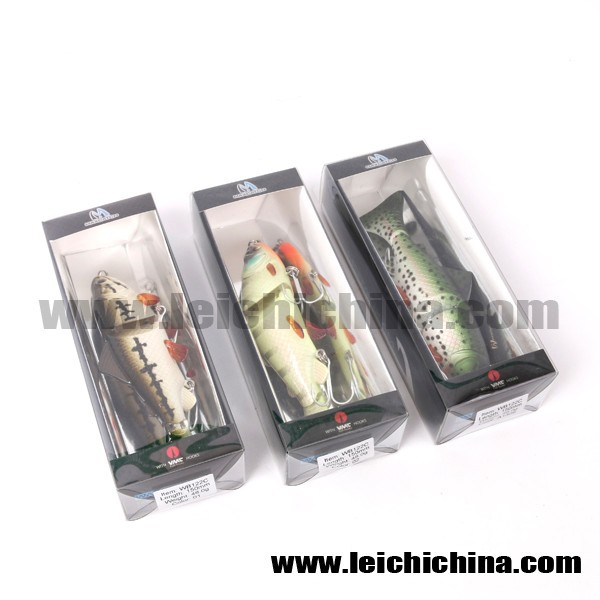 In stock VMC treble hook 15cm 48g multi jointed fishing lure