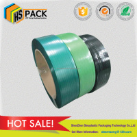 High tension green pet strap polyester packing strap for metal,cottons,glass bottles,raw paper,woods, pallet