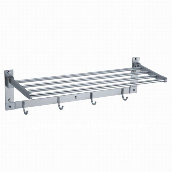 Aluminum Towel Rack with Clothes Hook
