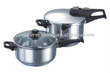 Hot sale German Style Spring Valve System Stainless Steel Pressure Cooker