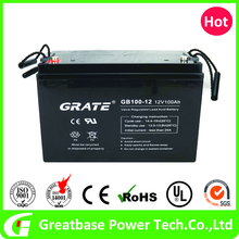 Sealed lead acid 12v 100ah rechargeable emergency light battery