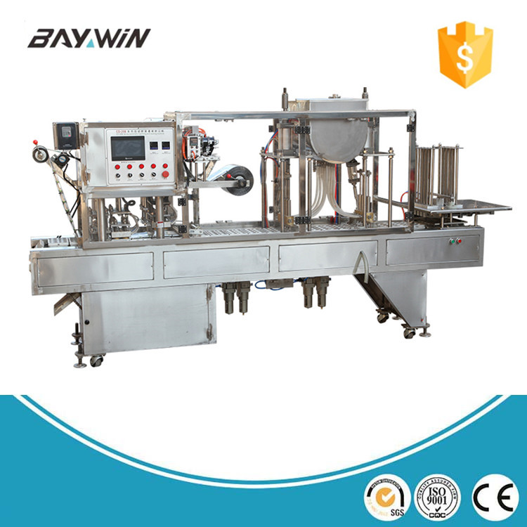 New Product 2017 beverage milk cup filling sealing machine beverag bean and
