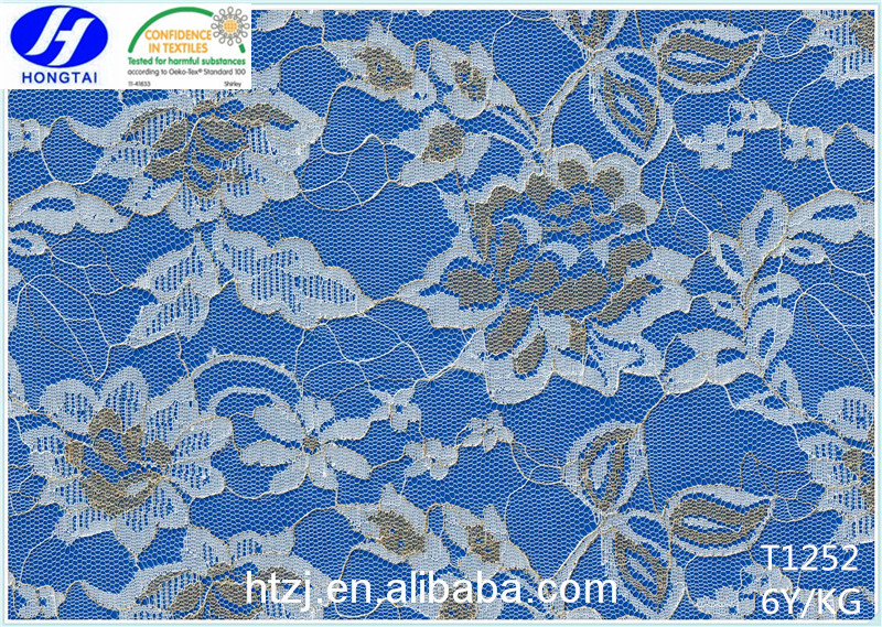best selling net rachel lace fabric for fashionable clothings from hongtai