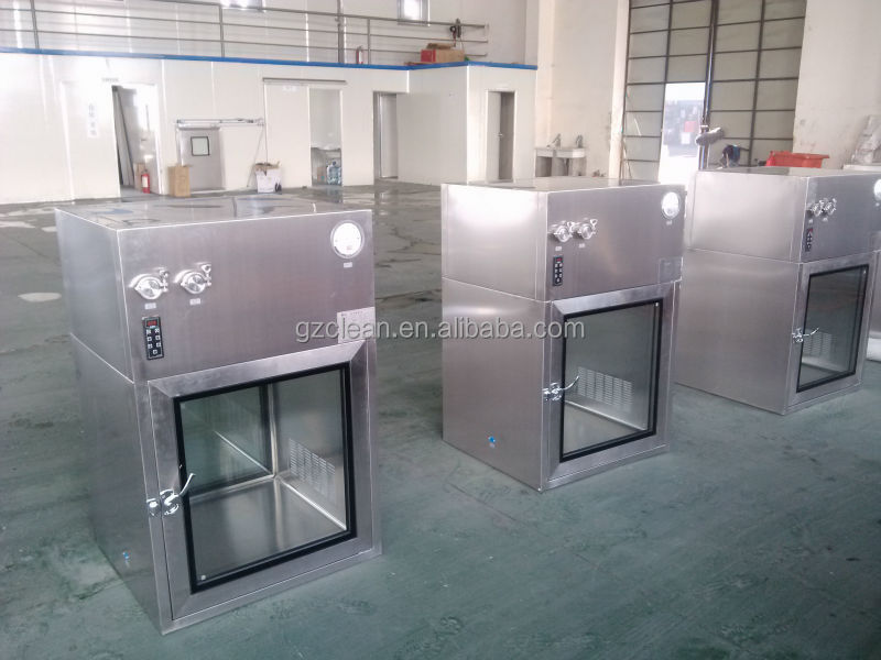 Clean Room Stainless Steel laminar flow Pass Box with UV light