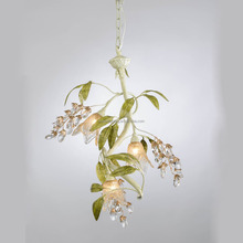 Apartment interior plants decorative willows branch 3 arms chandelier lamps