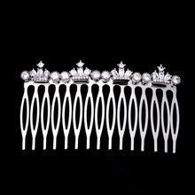 Little Crowns Young Girls Lady Bridal Hair Combs Cubic Zirconia Hair Jewelry