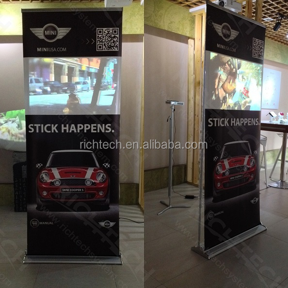 80 x 200cm dynamic display banner for special advertising feedback, with electronic devices supported
