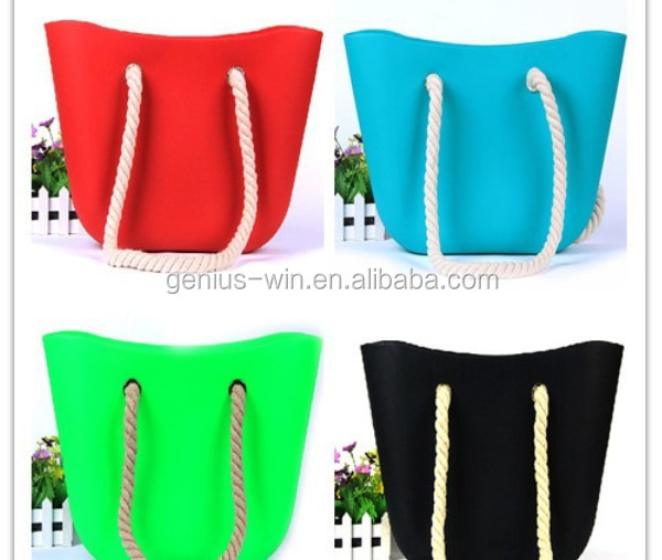 New Candy Silicone Shoulder Purse Handbag Satchel Bag Beach Bag Silicone Tote Shopping Bag