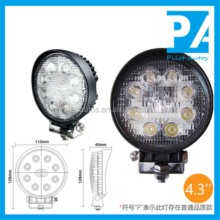 "24W 4.3"" inch Led Work Working Light For ATV SUV off road 4x4 heavy equipments Truck Jeep Motorcycle Boat 0424P"