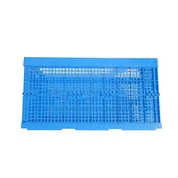 wholesale 61L mesh box style foldable plastic storage Crates without lid for transport