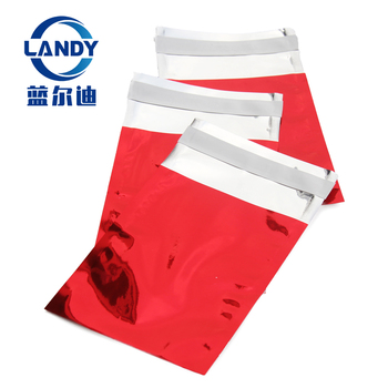 red poly bag metallic polymailer bags christmas polymailer metallic