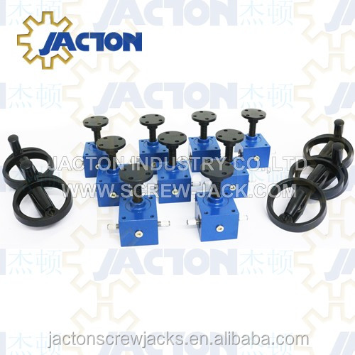 small lifting mechanical jacks 2.5kn miniature worm gear manual screw jack and tiny hand wheel machine actuators