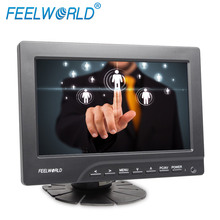 7 Inch VGA LCD Monitor resistive touchscreen optional hd car dvr monitor with DVI AV HDMI input