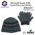 winter knitting beanie with headphone smartphone knitting touch glove
