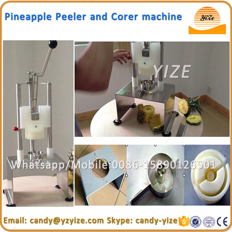 Manual type industrial pineapple peeler / pineapple coring machine / commercial pineapple corer