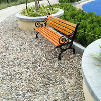 Modern Furniture Good Price Outdoor Slat Garden Park Wood Bench/Chair for Relax