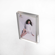 UNIVERSE custom most beautiful girl pop double sided <strong>fridge</strong> <strong>magnet</strong> 6x4 clear acrylic block <strong>photo</strong> frame frame with screw