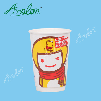 cold drink paper cup design with lid and straw
