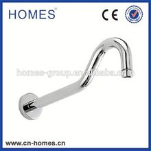 ROUND GOOSENECK CHROME SHOWER ARM, SOLID BRASS CONSTRUCTED