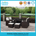 Target Garden Dining Set Furniture Rattan Outdoor Patio Table Chair Steel Frame