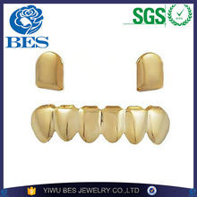 BES Jewelry Cheap Gold Denti Teeth Grillz with Single Cap on the Top Brass Grillz