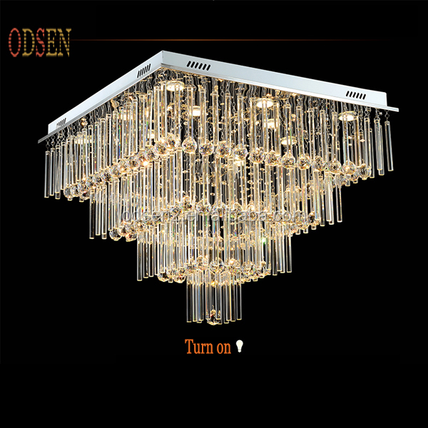Moda moderna l mpara de techo decorativa colgante cuadrado de luz l mparas de ara a de cristal - Lampara arana moderna ...