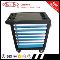 2016 new version7 drawer High quality tool trolley/cabinet/toolbox with 220pcs hand tools