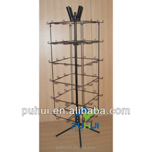 floor standing four sides metal swivel balloon display stand for gift shops