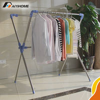 X-type heavy duty garment rack stainless steel clothes rack basic wire closet shelving