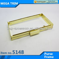 No.5148 distinctive clutch frame gold color high quality purse frame wholesale box frame