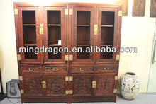 Chinese Antique Siam Rosewood hand carving bookshelf