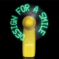 Free Sample Good Quality Dc 12V Custom Flashing Text Message Software Programmable Usb Led Fan With Low Price China