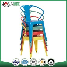 Stackable cheap plastic chairs price/stacking chair/Metal bar stool