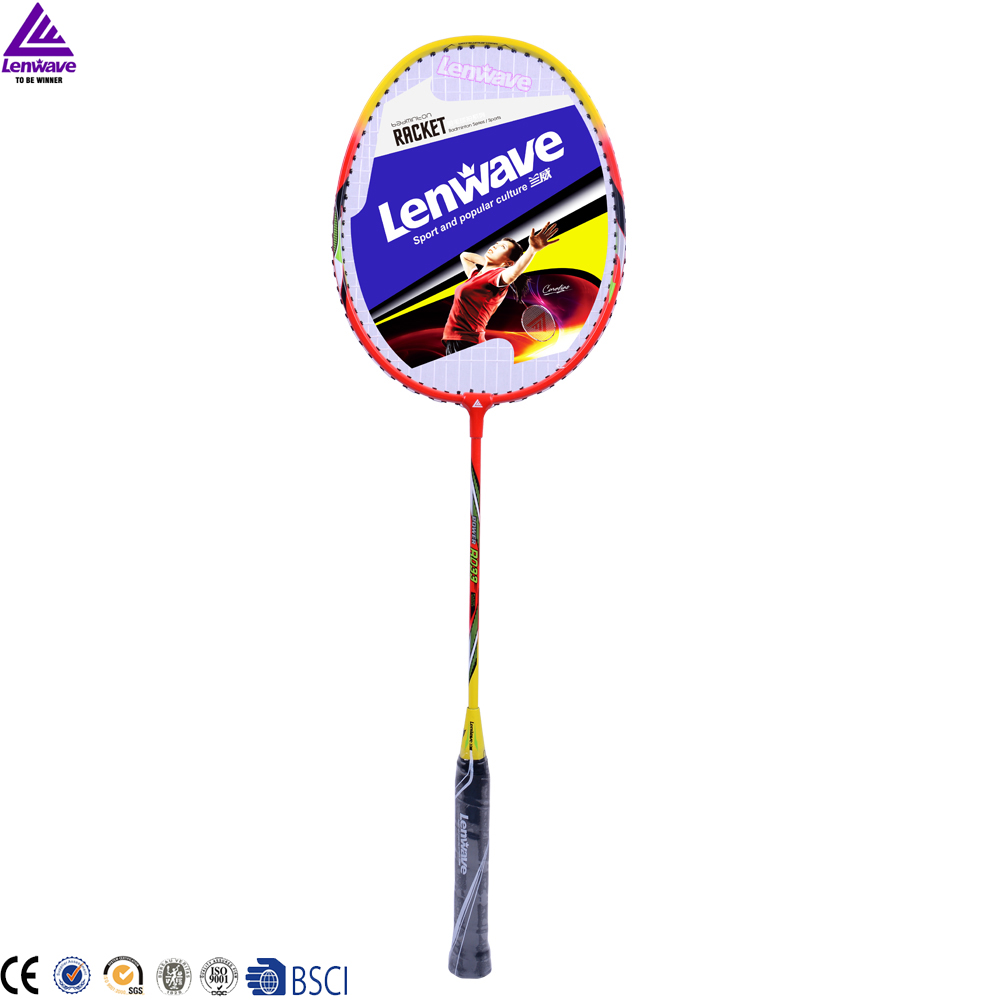 2016 lenwave brand new colorful hot selling professional oem badminton racket