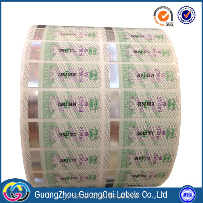 Professional factory high quality guangzhou guangcai labels self adhesive labels