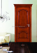 Interior wood door for small spaces