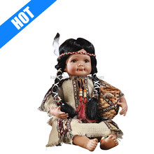 Indian Southwest Collectible Head Doll Porcelain Head Doll