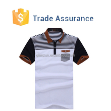 Custom Mens Stripe Polo Shirt Wholesale
