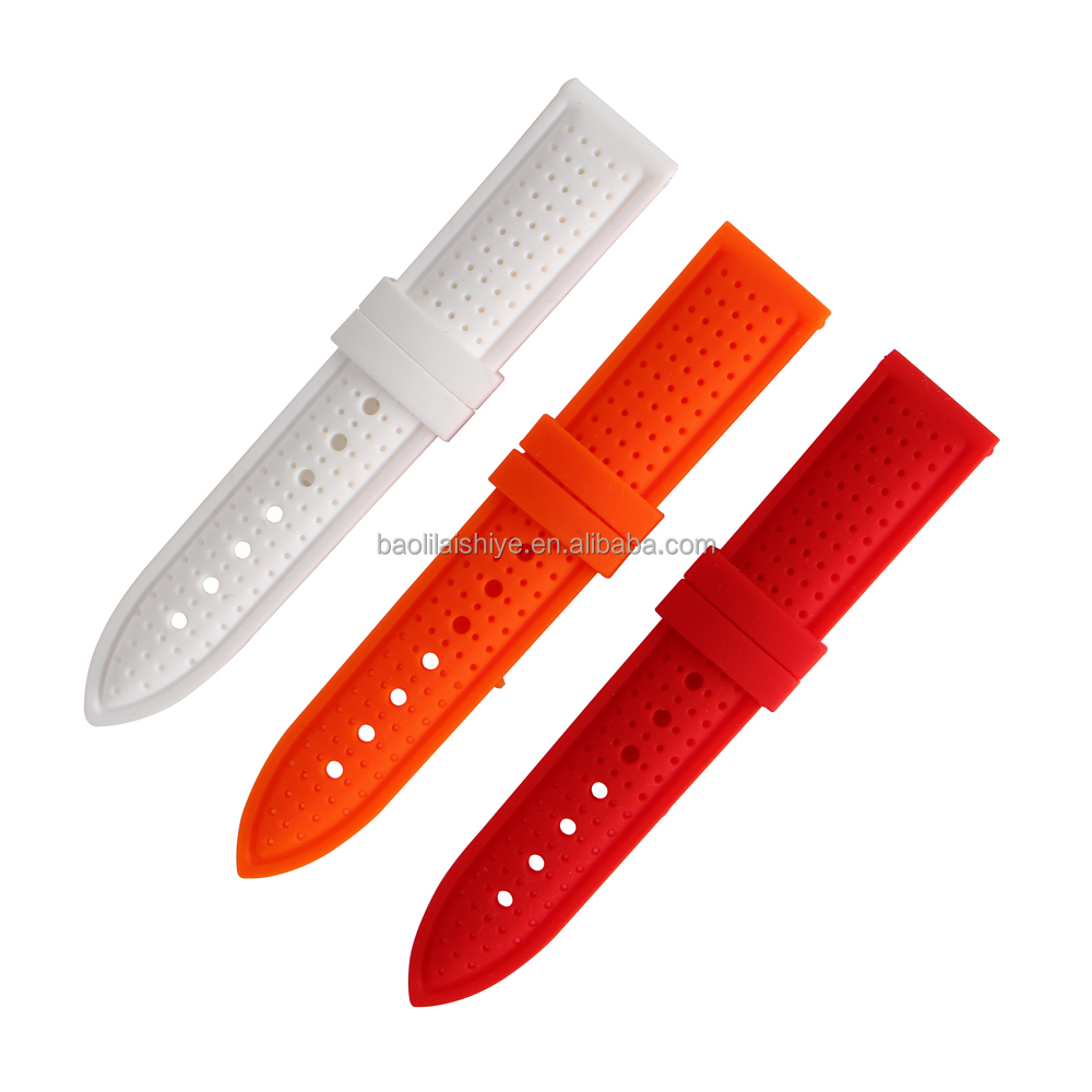 Trendy and cheap silicone rubber wrist watch straps Shenzhen factory supply