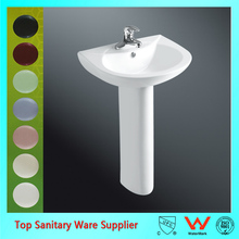 Bathroom Toilet Pedestal Sink Hand Wash Basin With Stand