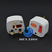 UK, Ireland, Malaysia, Singapore, HK Rewireable Plug BS1363 13A Fuse Main Switch LED Indicator