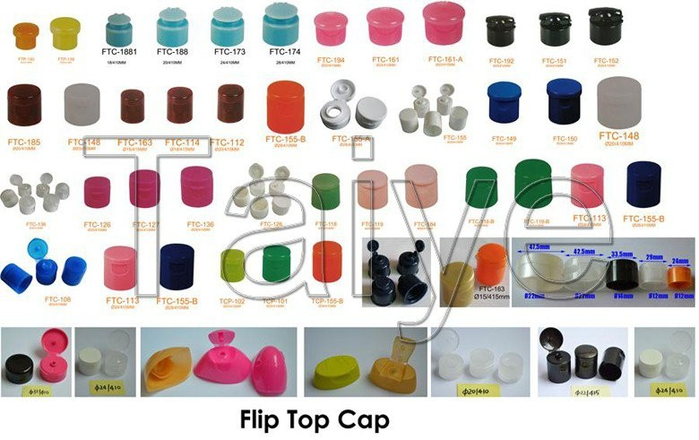 Mushroom type 24/410,28/410 bottle use flip top cap plastic cover lid