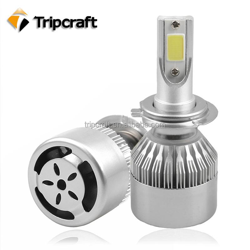 auto pi ces super blanc led phare ampoule h4 36 w 12 v 3800lm cob led ampoules h7 c6 voiture. Black Bedroom Furniture Sets. Home Design Ideas