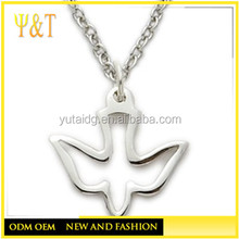 Dove Necklace in a Pierced Descending Design Christian Jewelry Women Religious Jewelry (YR-0007)
