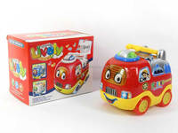 Children toys electronic cartoon fire fighting truck with light and music, fire truck for wholesale, AA018102